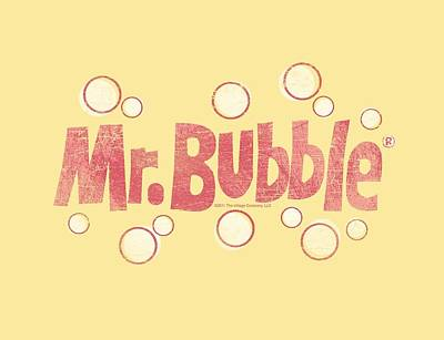 Soap Bubbles Digital Art - Mr Bubble - Vintage Logo by Brand A