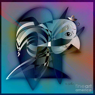 Buzzard Digital Art - Mr. Buzzard by Iris Gelbart