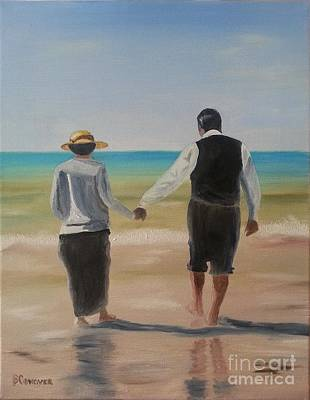Seacape Painting - Mr. Carson And Mrs. Hughes by Bev Conover