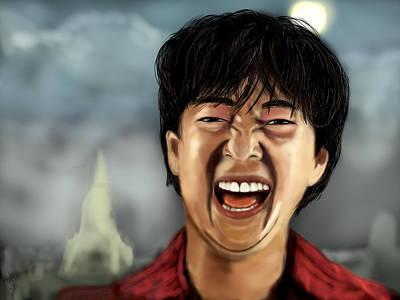 Mr. Chow Hangover Part 2 Art Print by Mathieu Lalonde