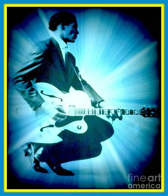 Photograph - Mr Chuck Berry Blueberry Hill Style Edited 2 by Kelly Awad