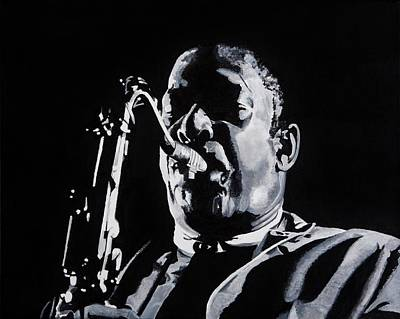 John Coltrane Painting - Mr Coltrane by Brian Broadway