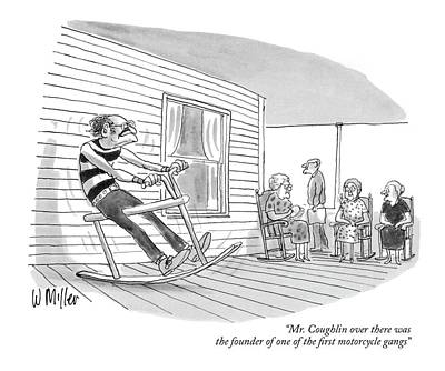 Miller Drawing - Mr. Coughlin Over There Was The Founder Of One by Warren Miller