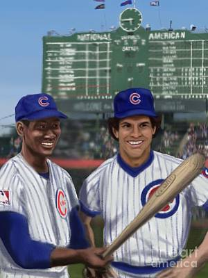 Second Base Digital Art - Mr. Cub And Ryno by Jeremy Nash