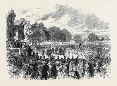 Mr. Disraeli Opening The Industrial Exhibition At Halton Art Print by English School
