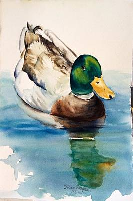 Painting - Mr Duck by Diane Ziemski