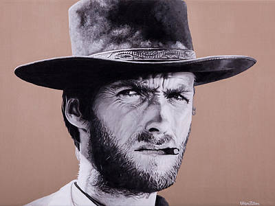 Mr. Eastwood Print by Ellen Patton