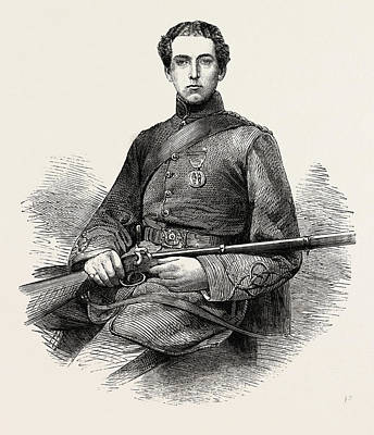 Art Ross Drawing - Mr. Edward Ross, The Rifle Champion Of England by English School