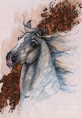 Wild Horse Mixed Media - mr Fabulous 2014 11 03 by Angel  Tarantella