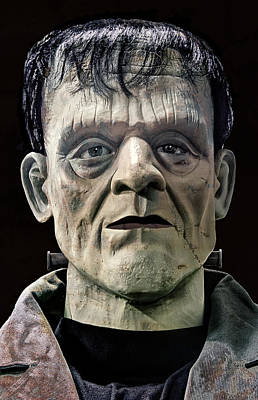 Walking Dead Digital Art - Mr. Frankenstein Mugshot by Daniel Hagerman