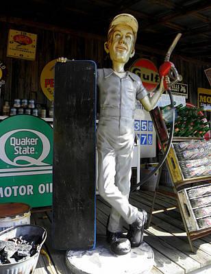 Oil Pumper Photograph - Mr Gas Pump Mechanic by Kim Galluzzo Wozniak