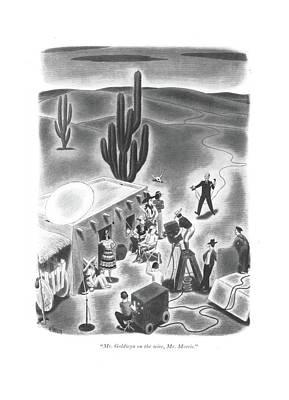 Mr. Goldwyn On The Wire Art Print by Richard Taylor