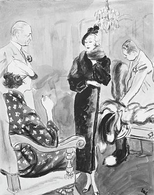 Mr. Goodman Advises Shoppers Art Print by Carl Oscar August Erickson