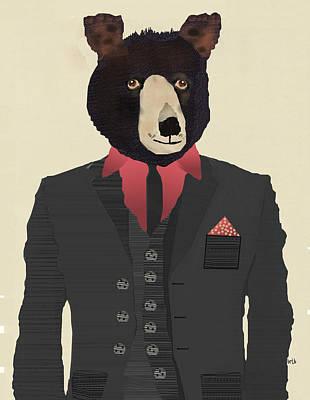 Grizzly Bear Digital Art - Mr Grizzly Bear by Bleu Bri