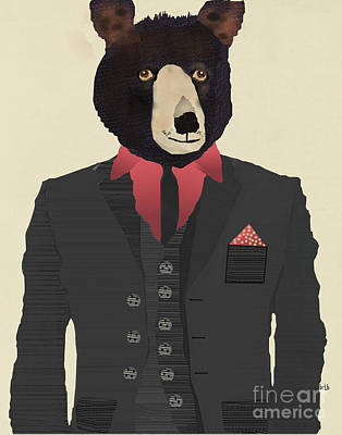 Painting - Mr Grizzly by Bri B
