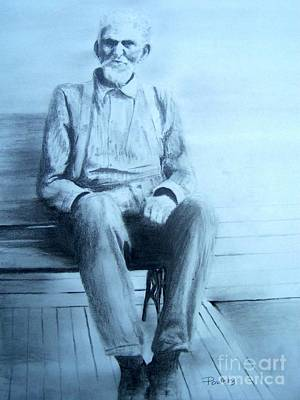 Art Print featuring the drawing Mr. Higgs by Mary Lynne Powers