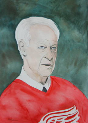 National Hockey League Painting - Mr. Hockey by Betty-Anne McDonald