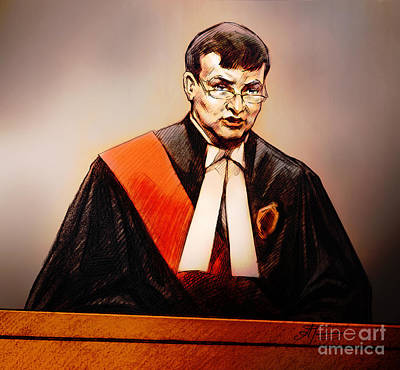 Painting - Mr. Justice Mcmahon - Judge Of The Ontario Superior Court Of Justice by Alex Tavshunsky
