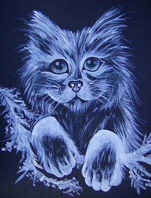 Art Print featuring the painting Mr. Kitty by Leslie Manley