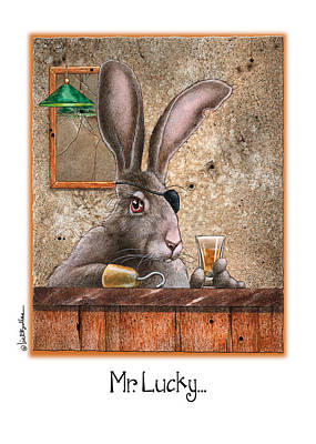 Jack Rabbit Painting - Mr. Lucky... by Will Bullas