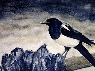 Painting - Mr. Magpie by Carol Warner