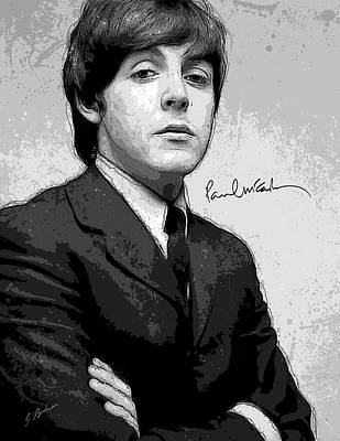 Fab Four Digital Art - Mr. Mccartney by Gary Bodnar