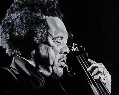 Genius Wall Art - Painting - Mr Mingus by Brian Broadway