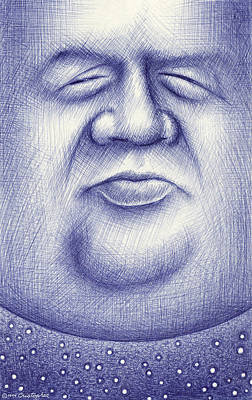 Drawings Royalty Free Images - Mr. Moon Royalty-Free Image by Cristophers Dream Artistry