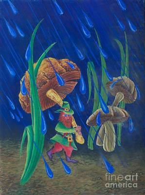 Toadstools Painting - Mr. Mushroom by Gary McDonnell