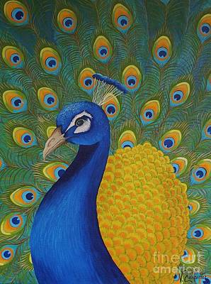 Painting - Mr Peacock by Valerie Carpenter