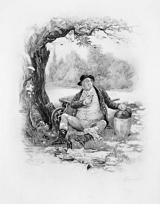 Mr Pickwick, From Charles Dickens A Art Print by Frederick Barnard