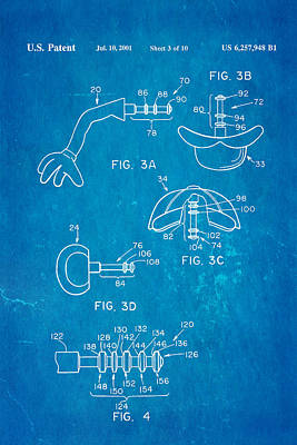 Mr Potato Head 2 Patent Art 2001 Blueprint Art Print by Ian Monk