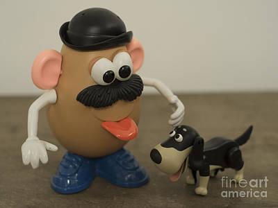 Mr Potato Head And His Doggy  Art Print