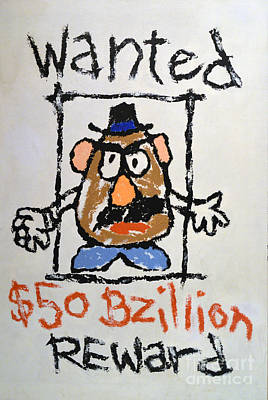 Art Print featuring the photograph Mr. Potato Head Gone Bad by Robert Meanor