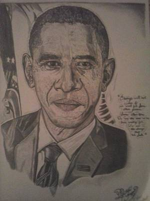 Barack Obama Drawing - Mr. President by Demetrius Washington