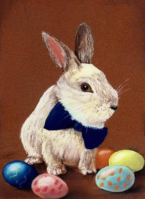 Pastels Painting - Mr. Rabbit by Anastasiya Malakhova