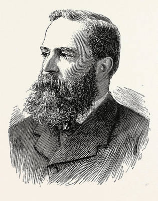 Clay Drawing - Mr. Richard Clay, Engraving 1890, Uk by English School