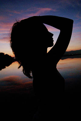 Potraiture Photograph - Silhouette Of An Attractive Young by Nano Calvo