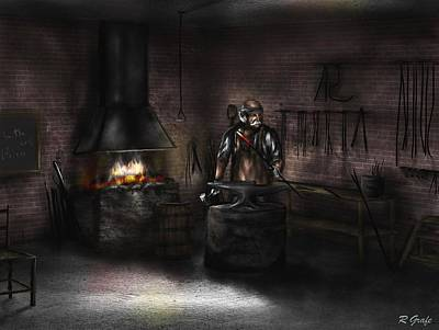Painting - Mr. Smith's Blacksmith Shop by Ron Grafe