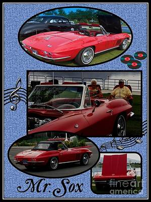 Mr. Sox Corvette Art Print by Bobbee Rickard