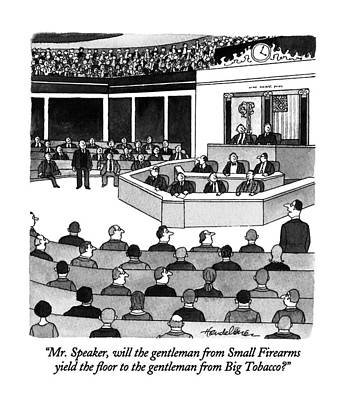 Congressman Drawing - Mr. Speaker by J.B. Handelsman