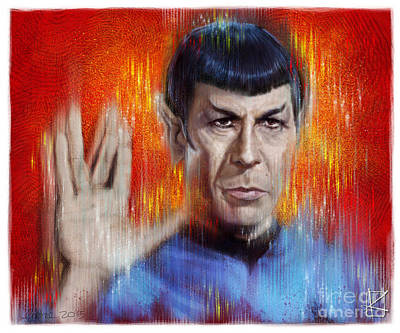 Star Trek Drawing - Mr Spock by Andre Koekemoer