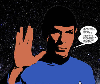 Digital Art - Mr. Spock by Saad Hasnain