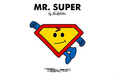 Mr Men Digital Art - Mr Super by NicoWriter