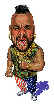 Comics Royalty-Free and Rights-Managed Images - Mr. T by Art