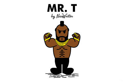 Mr Men Digital Art - Mr T by NicoWriter