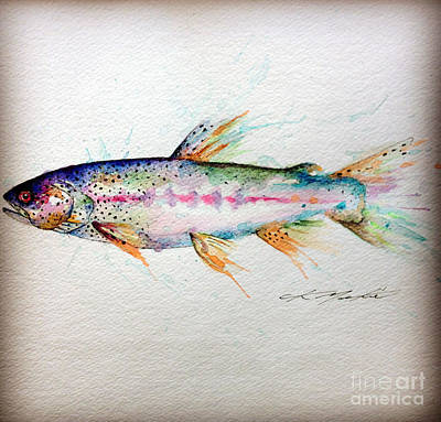 Trout Painting - Mr Trout by Chris Mackie