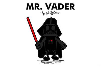 Mr Vader Art Print by NicoWriter