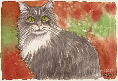 Painting - Mr. Whiskers by Audrey Peaty
