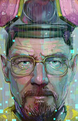 Walter Digital Art - Mr. White by Jeremy Scott